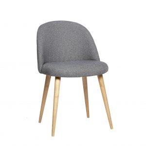 Hübsch Clara spisebordstol grå