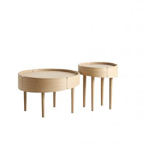 Woud large Skirt coffee table / natur