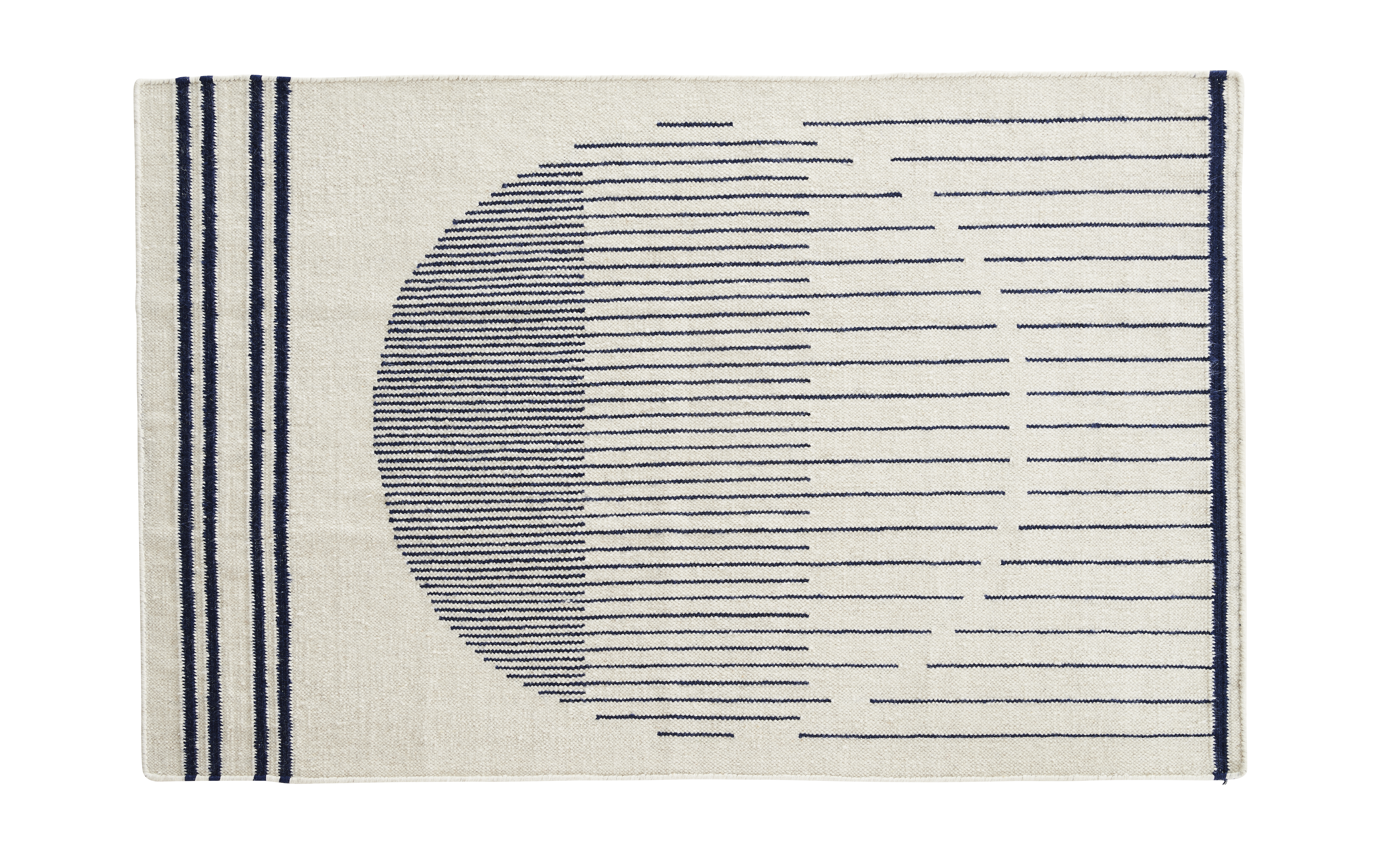 Image of   Woud Raining Circle Rug, 170x240 / Blå