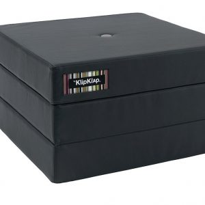By KlipKlap 3 fold single foldemadras PU mørkegrå / grå