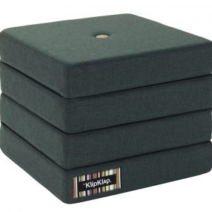 By KlipKlap 4 fold foldemadras blågrå / grå