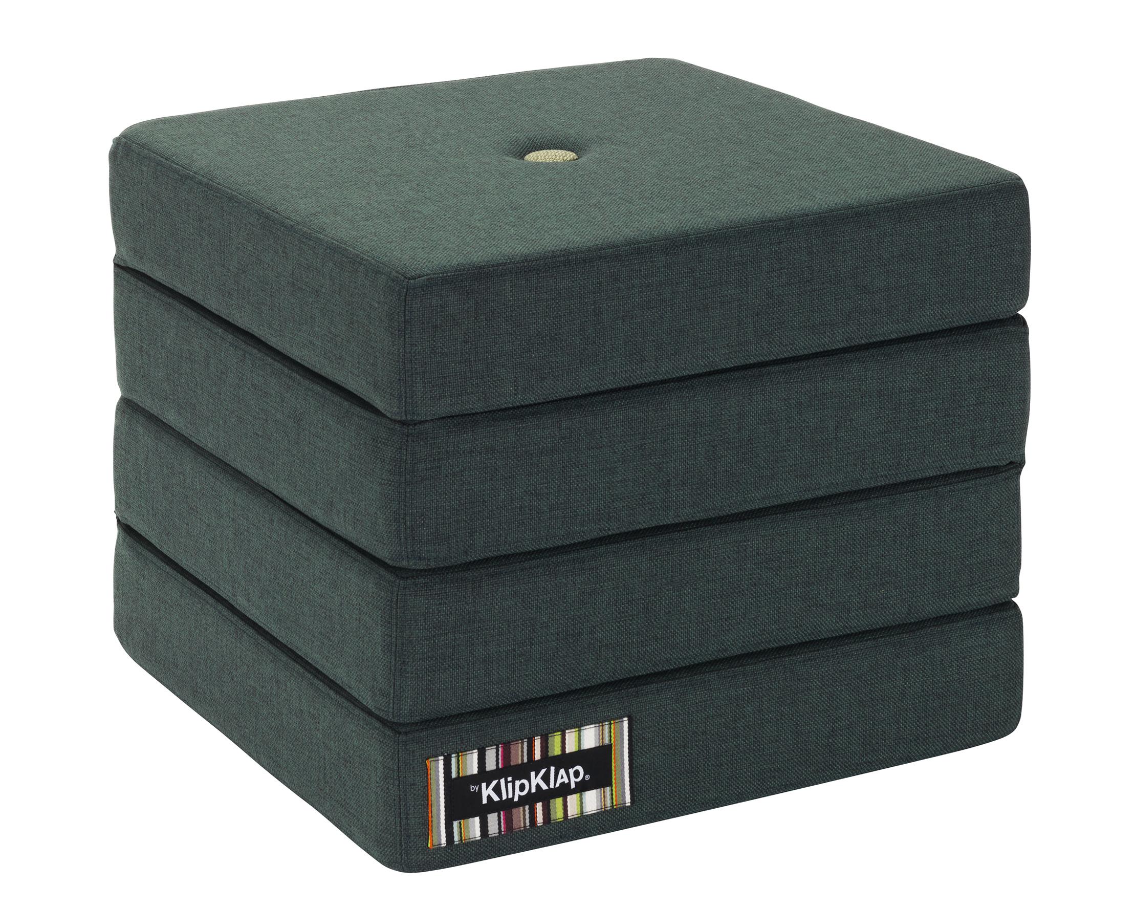 Image of   By KlipKlap 4 fold foldemadras mørkegrøn / lysegrøn