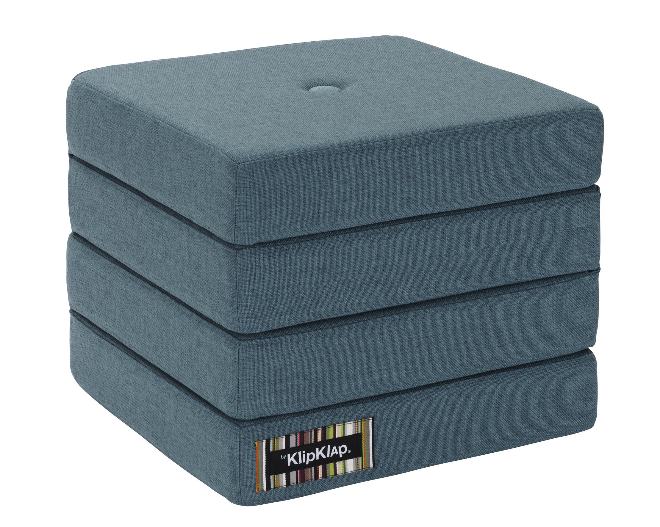 Image of   By KlipKlap 4 fold foldemadras støvet blå / blå