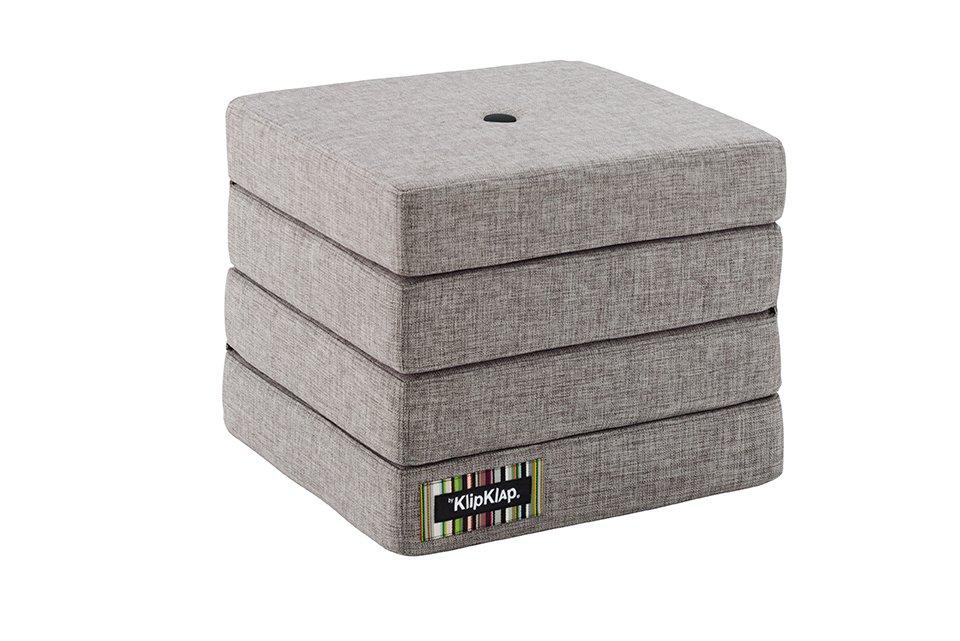 Image of   By KlipKlap 4 fold foldemadras lysegrå / grå