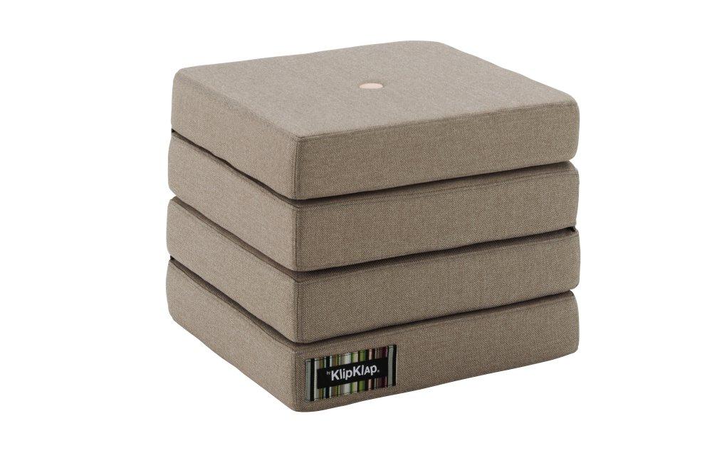 Image of   By KlipKlap 4 fold foldemadras varm grå / fersken