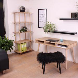Orchid skrivebord / sort kant
