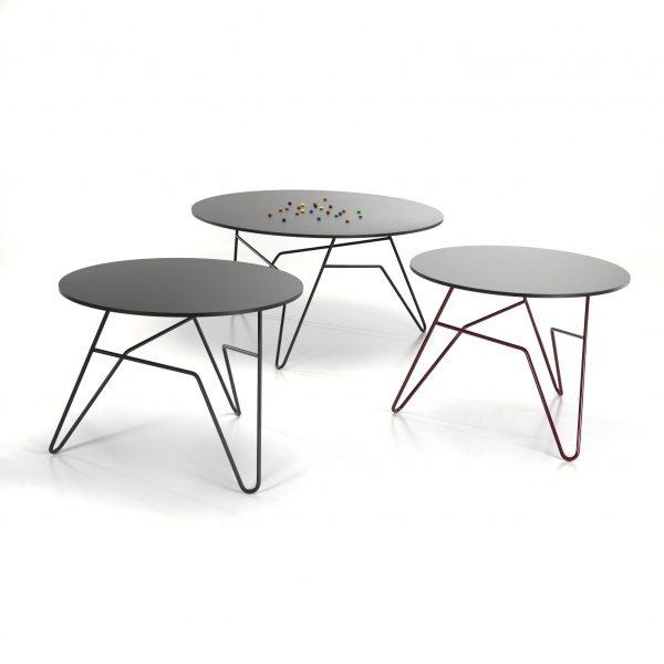 Twist Table Ø85 Sort - Sort Stel