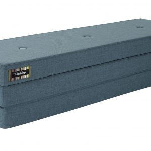 By KlipKlap 3 fold XL foldemadras støvet blå / blå