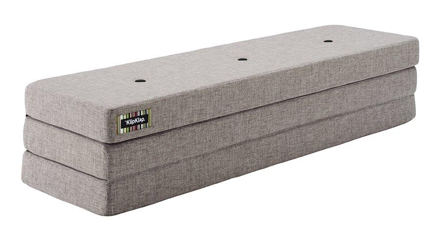 Image of   By KlipKlap 3 fold XL foldemadras lysegrå / grå
