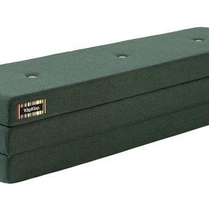 By KlipKlap 3 fold XL foldemadras mørkegrøn / lysegrøn