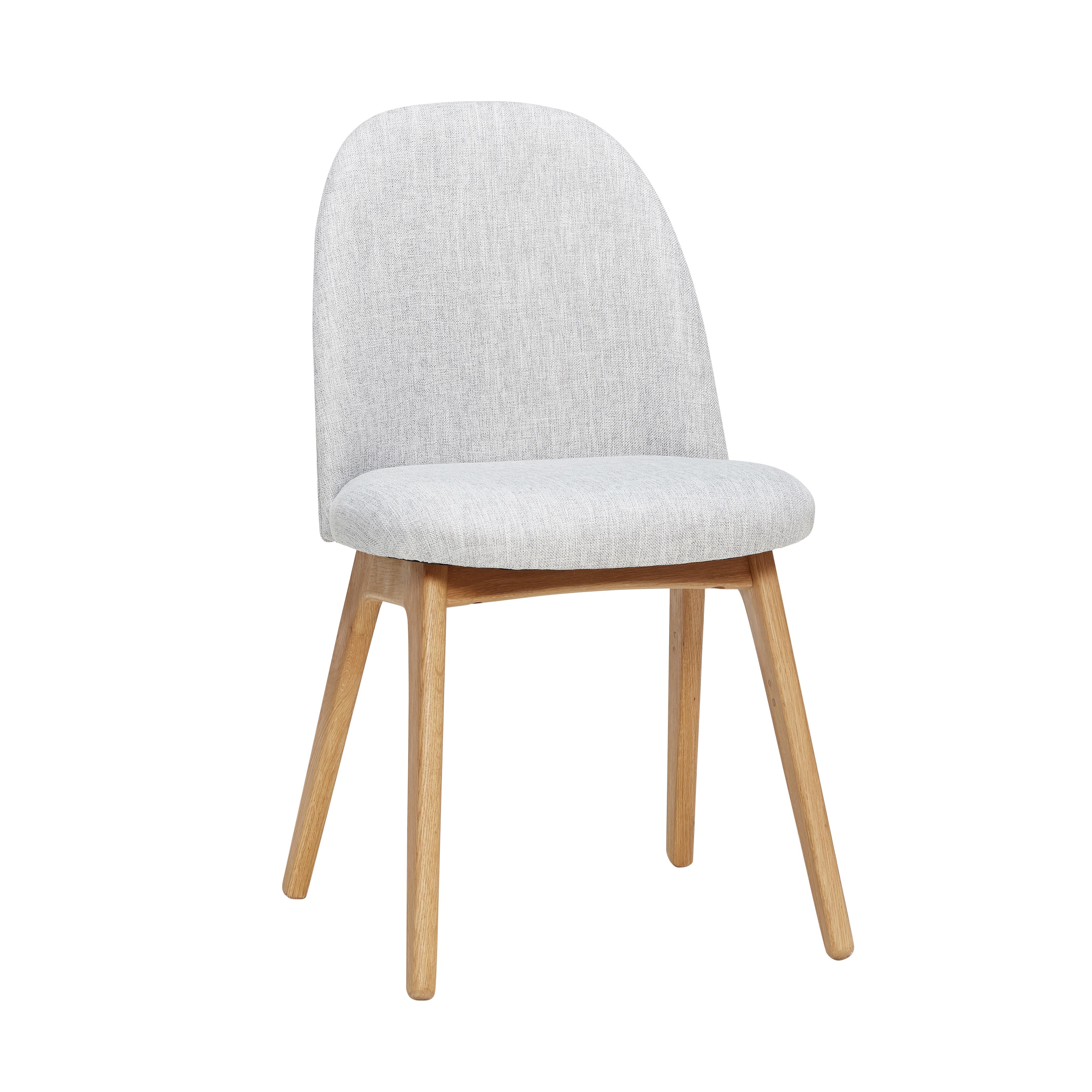 Hübsch Sebastian stol / lysegrå
