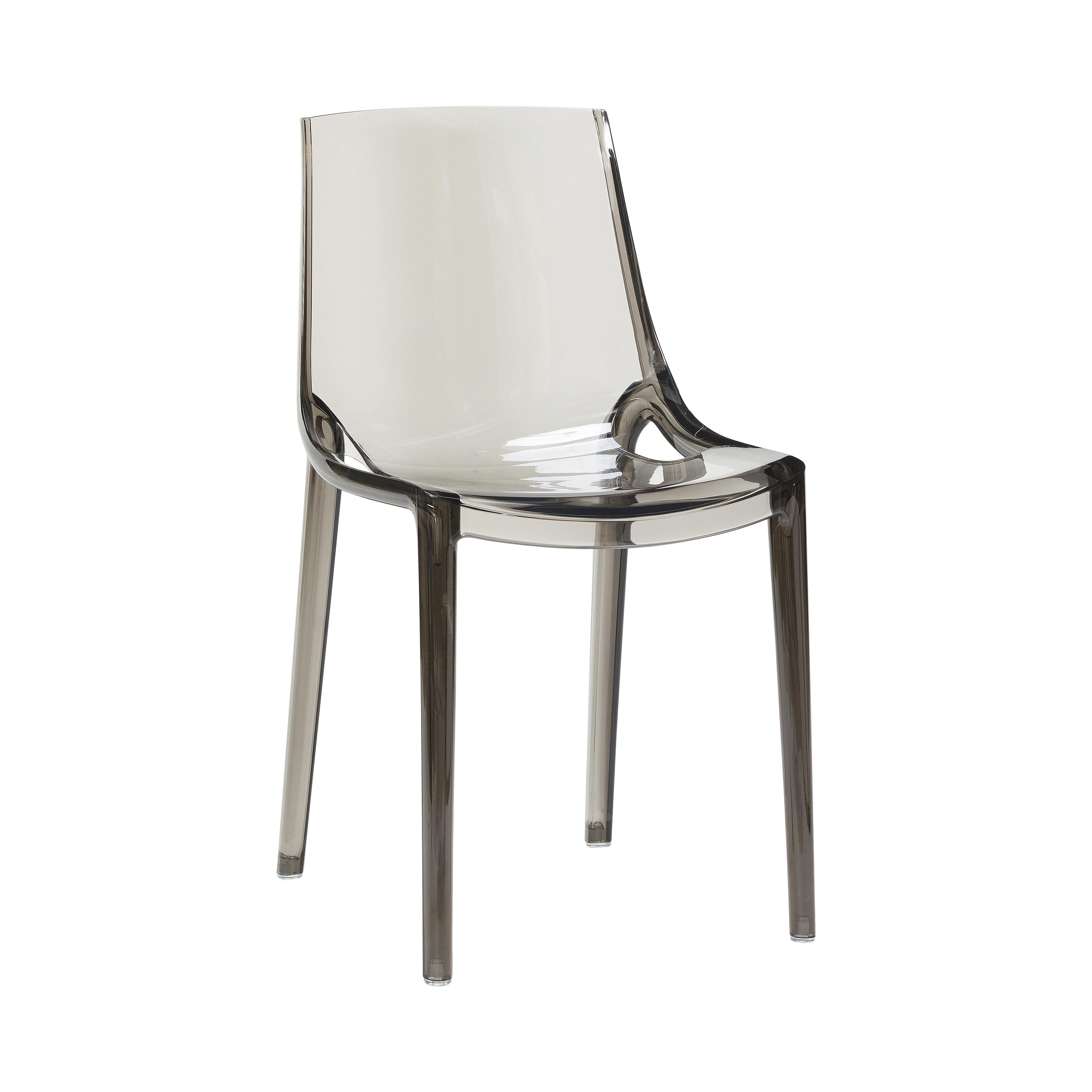 Image of   Hübsch Seoul plastik stol / grå