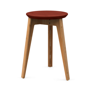 We Do Wood Button Stool / Rød