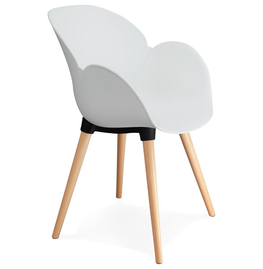 Sitwel spisebordsstol / hvid