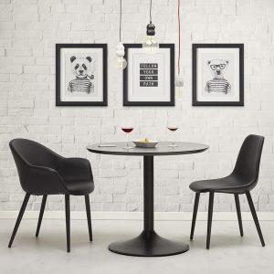 Melrose spisebordsstol / sort