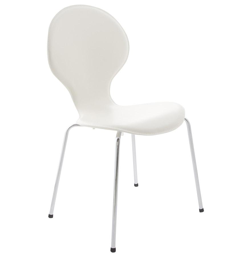 Vlind spisebordsstol / hvid