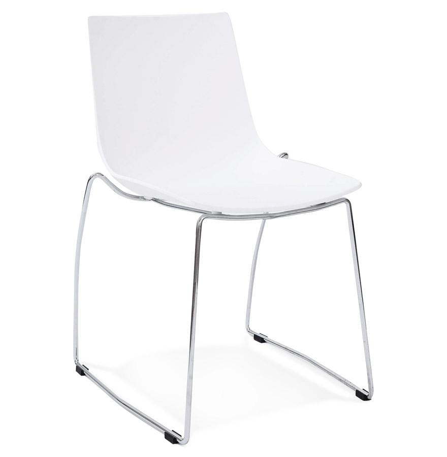 Tikada spisebordsstol / hvid