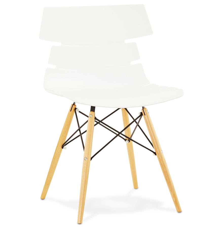 Strata spisebordsstol / hvid
