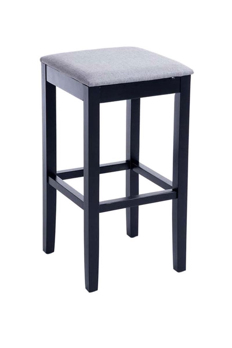 Kob Klassisk lysegrå barstol i tr u00e6 med stofs u00e6de Gratis fragt
