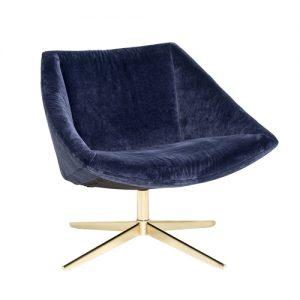 Elegant Lænestol - blå