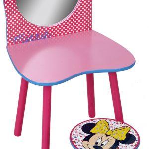 Minnie Mouse sminkebord og skammel