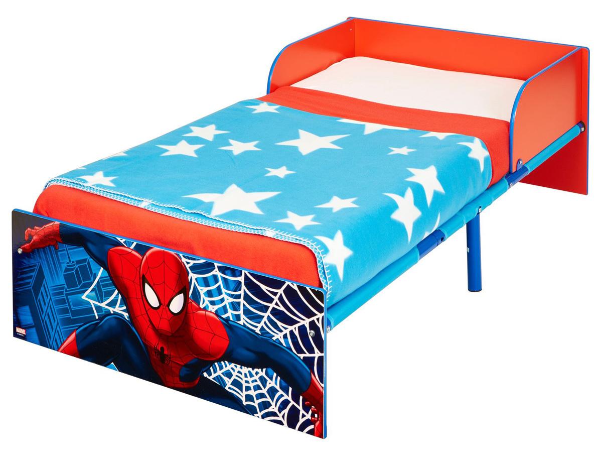 Spider-Man juniorseng med madras