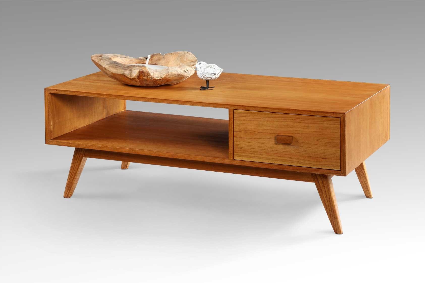 retro sofabord Køb Flot retro sofabord i træ m/skuffe   Gratis fragt retro sofabord
