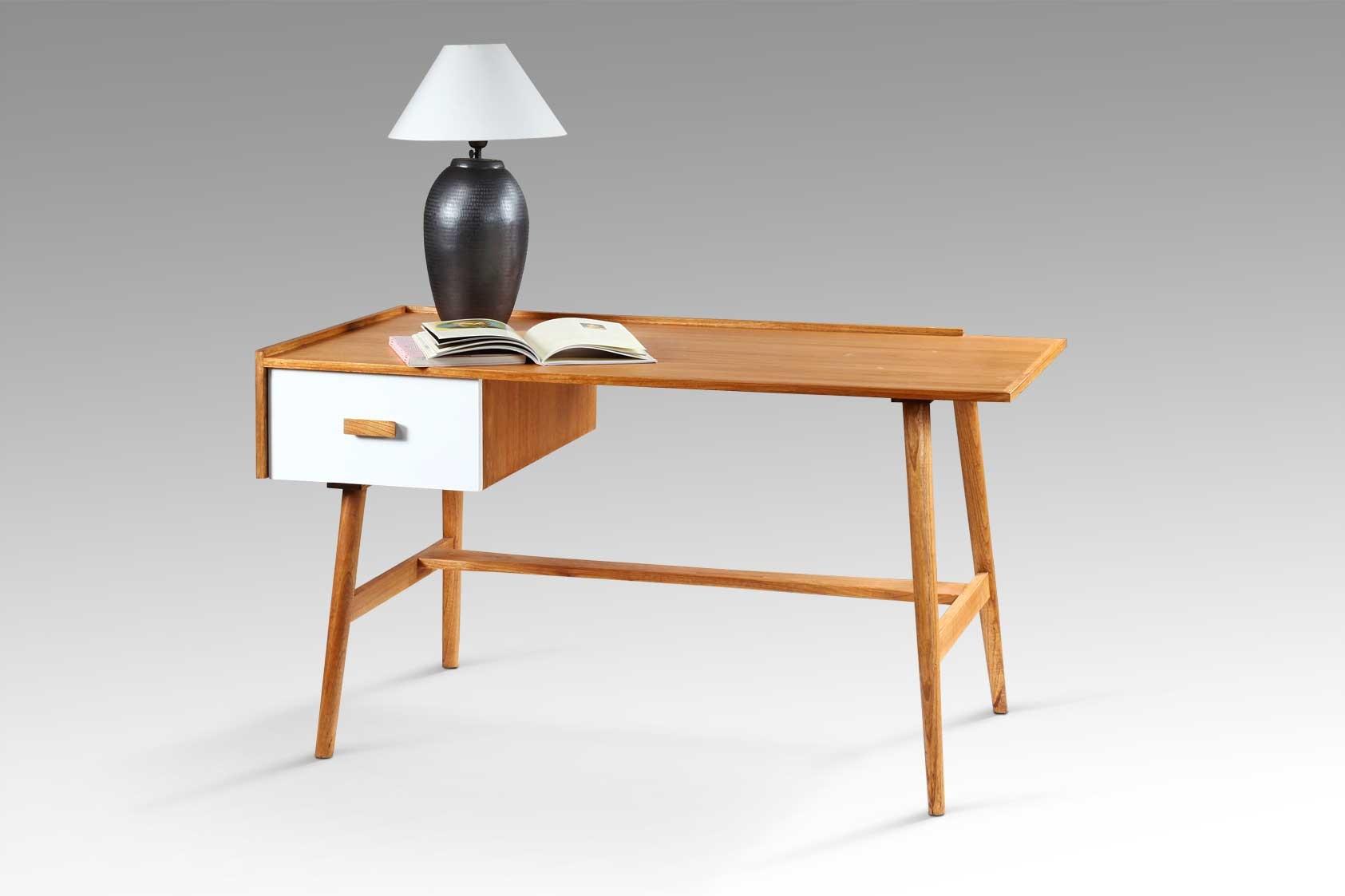 Image of   Retro skrivebord m/ skiffe