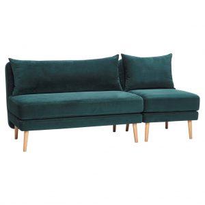 Marta 2. pers. Sofa grøn velour