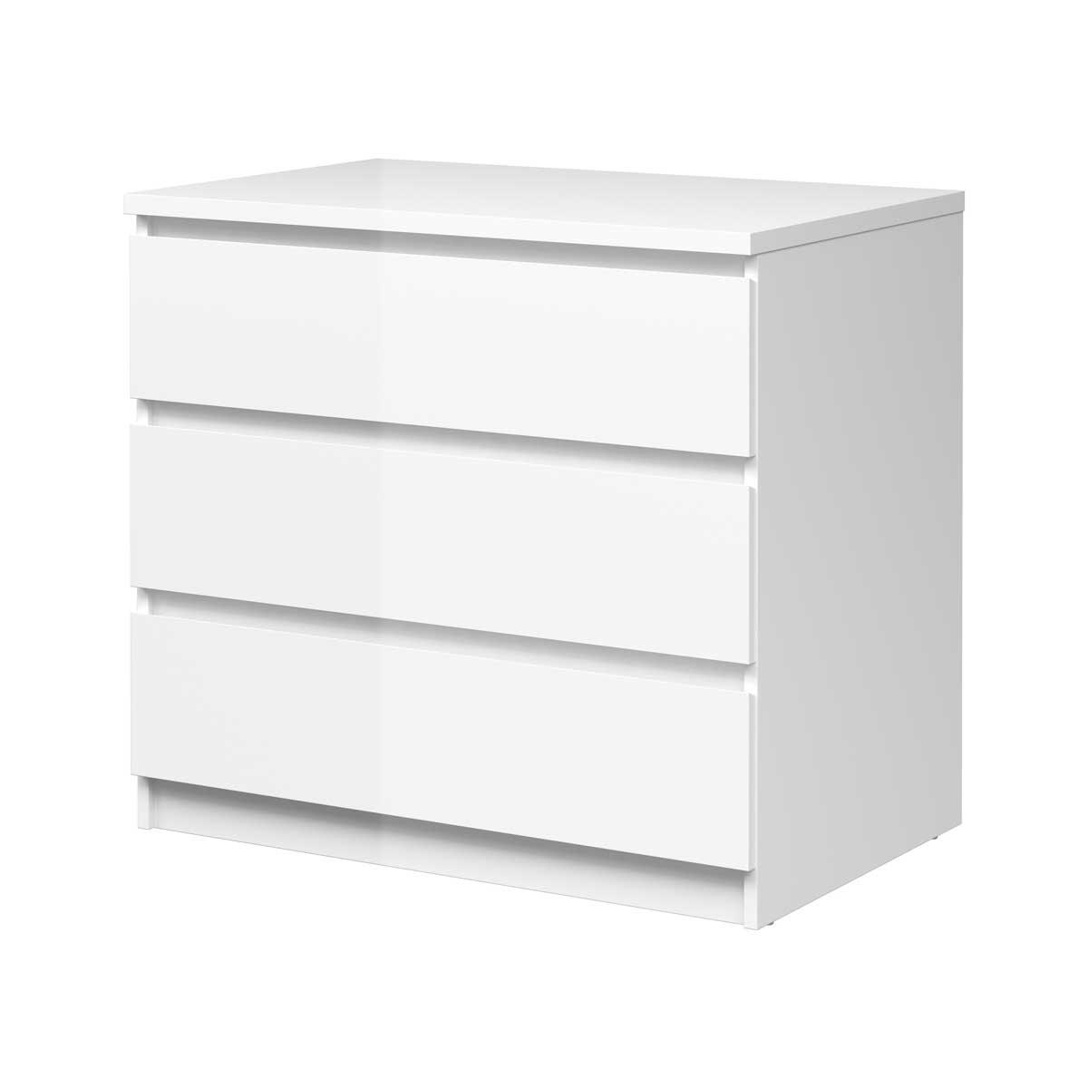 Image of   Naia kommode – hvid m. 3 skuffer
