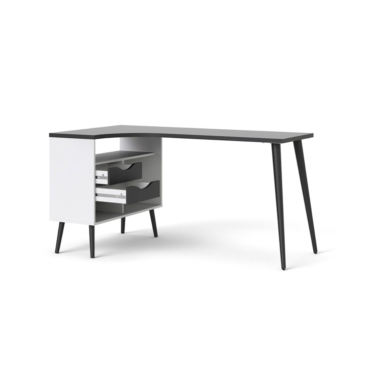 Image of   Oslo skrivebord – sort-hvid