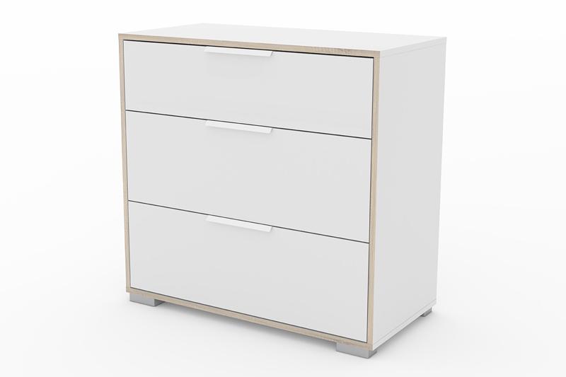 Image of   Line kommode - hvid