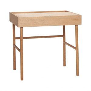 Manuel skrivebord m. låge