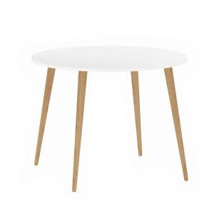 Delta spisebord - hvid-eg