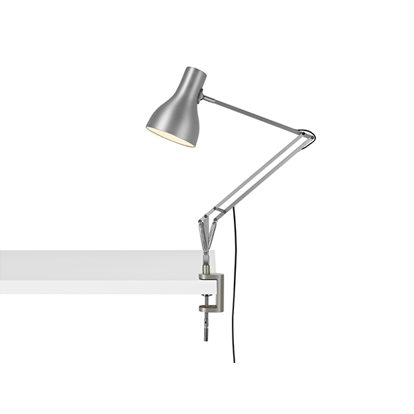 Anglepoise Type 75 Lampe M. Klemme Silver Lustre