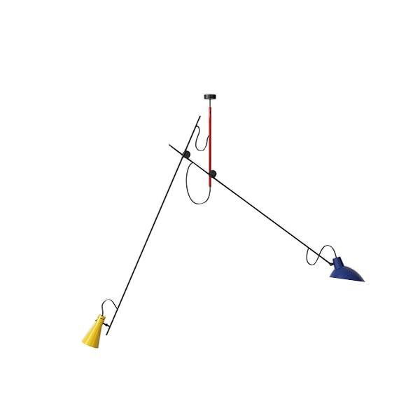 Astep VV Cinquanta Loftlampe Suspension Mondrian/Blå/Gul