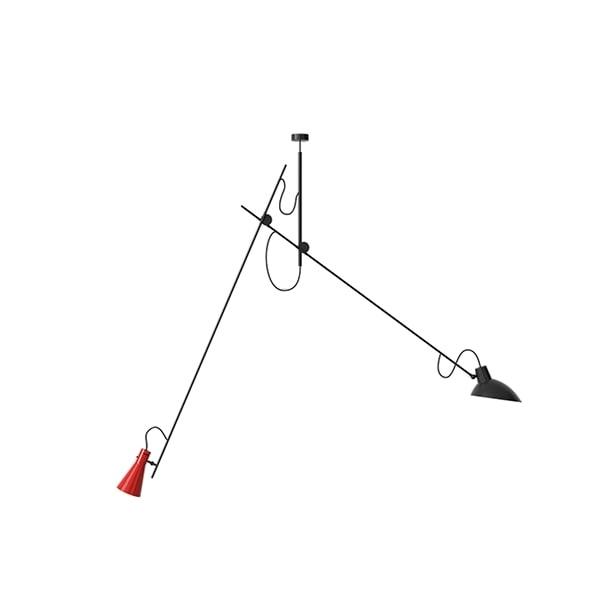 Astep VV Cinquanta Loftlampe Suspension Sort/Rød