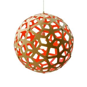 David Trubridge Coral ø60 Rød Pendel