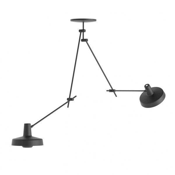 Grupa Products Arigato Loftlampe Dobbelt Lang Sort