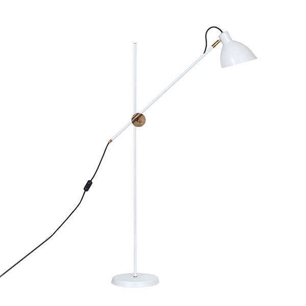 Konsthantverk KH#1 Gulvlampe - Rå Messing & Hvid