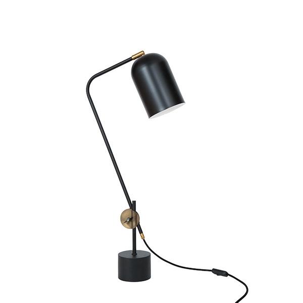 Konsthantverk Knekt Bordlampe - Mat Sort & Rå Messing