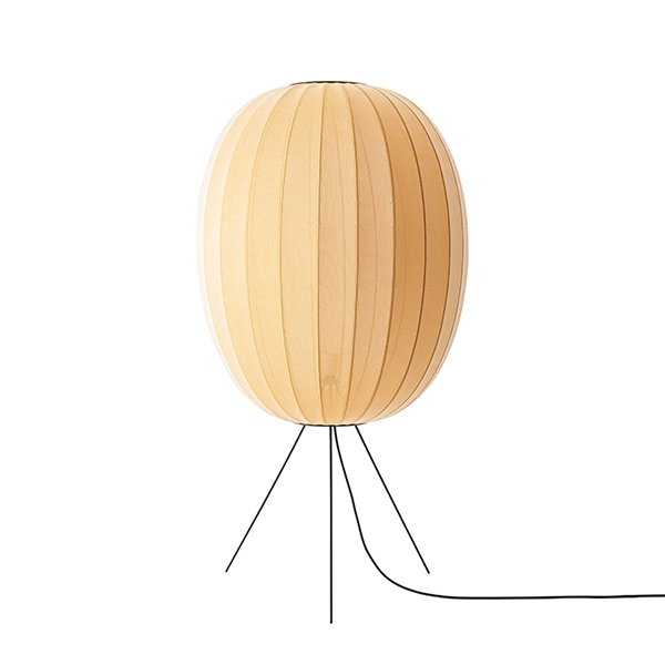 Made By Hand Knit-Wit Round Gulvlampe Ø65 Medium Gul