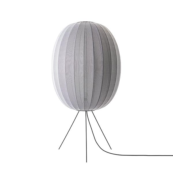Made By Hand Knit-Wit Round Gulvlampe Ø65 Medium Sølv