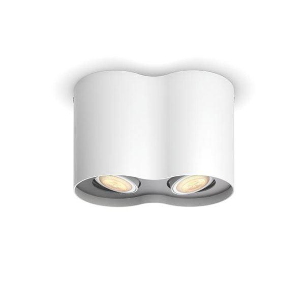 Philips Hue Pillar Dobbelt Spot Hvid