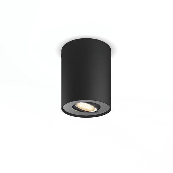 Philips Hue Pillar Single Spot Sort excl. Dæmper