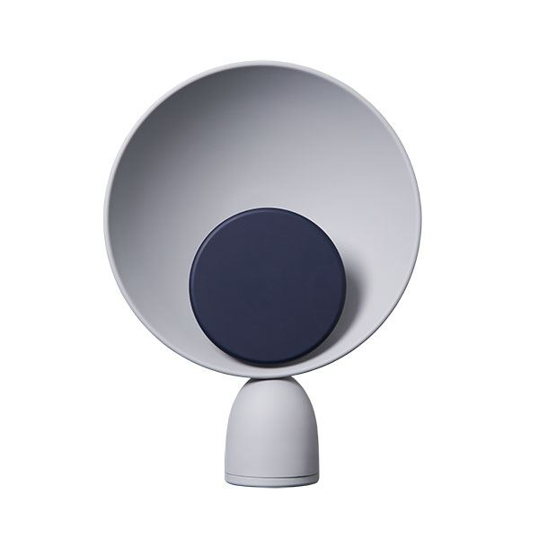 Please Wait to be Seated Blooper Table Lamp Navy Blue Dimmer