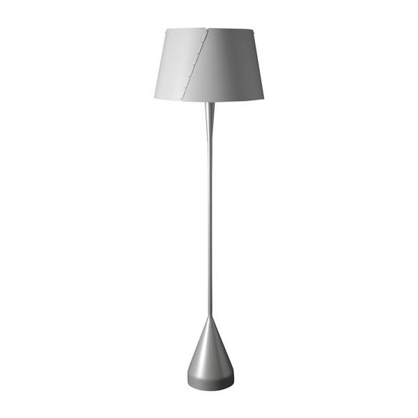 TATO De-Lux A4 Gulvlampe Sølv & Mat Hvid