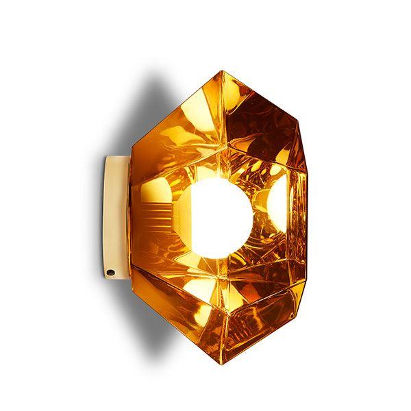 Tom Dixon Cut Surface Væg- & Loftlampe Guld