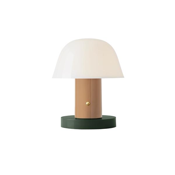 &Tradition Setago JH27 Bordlampe Beige & Grøn