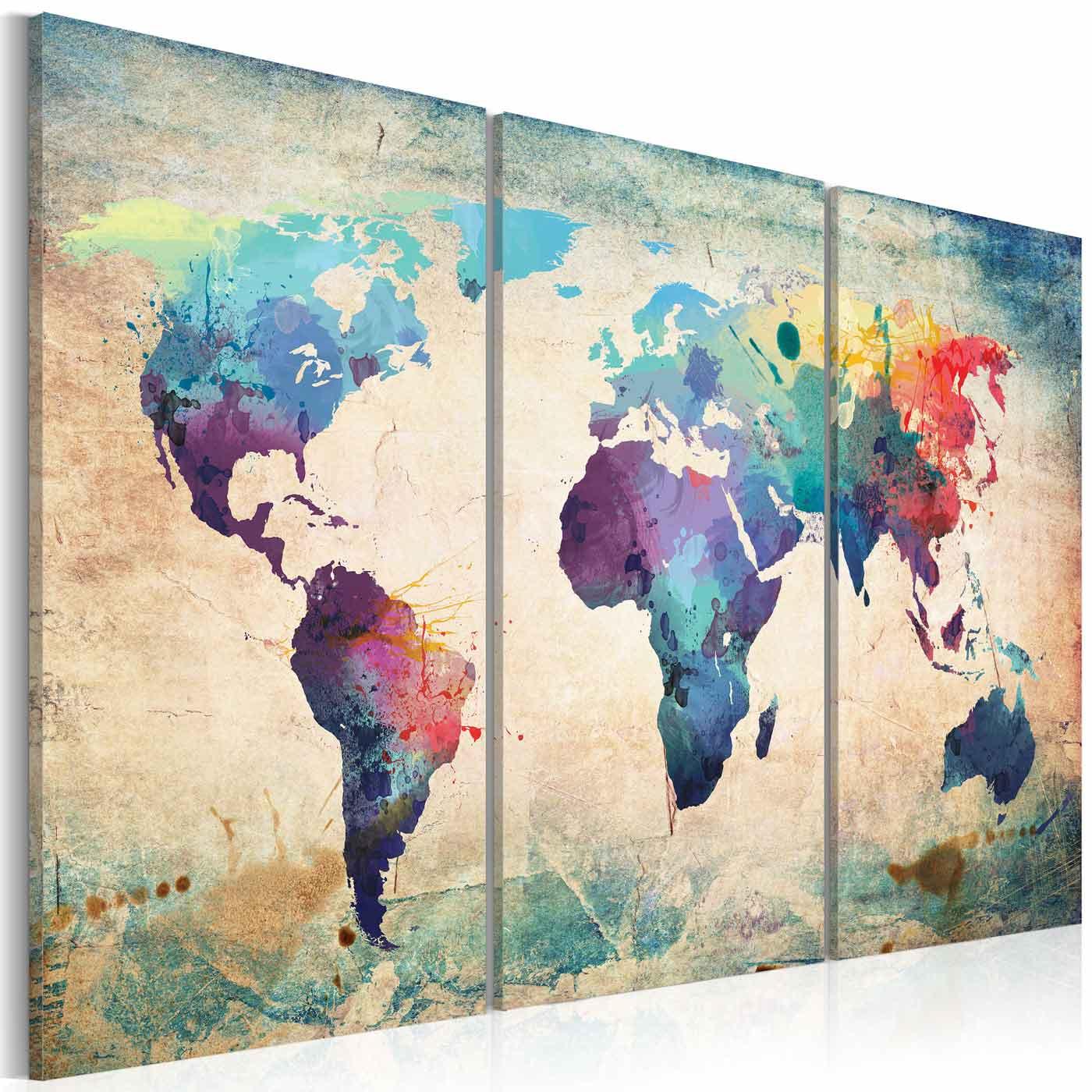 ARTGEIST Rainbow Triptych billede - multifarvet print, 2 størrelser 60x40
